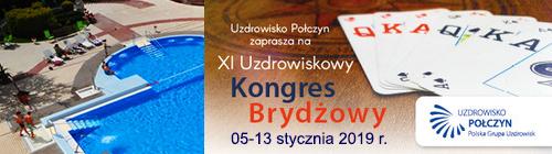 XI UZDROWISKOWY Kongres Brydżowy 2019 @ Sanatorium GRYF, Połczyn Zdrój | Połczyn-Zdrój | Województwo zachodniopomorskie | Polska